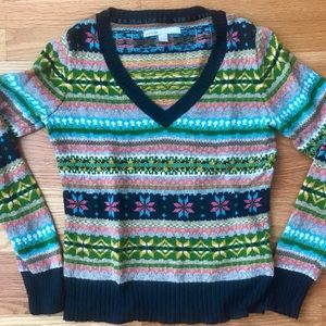 Old Navy Colorful Cotton Blend Sweater